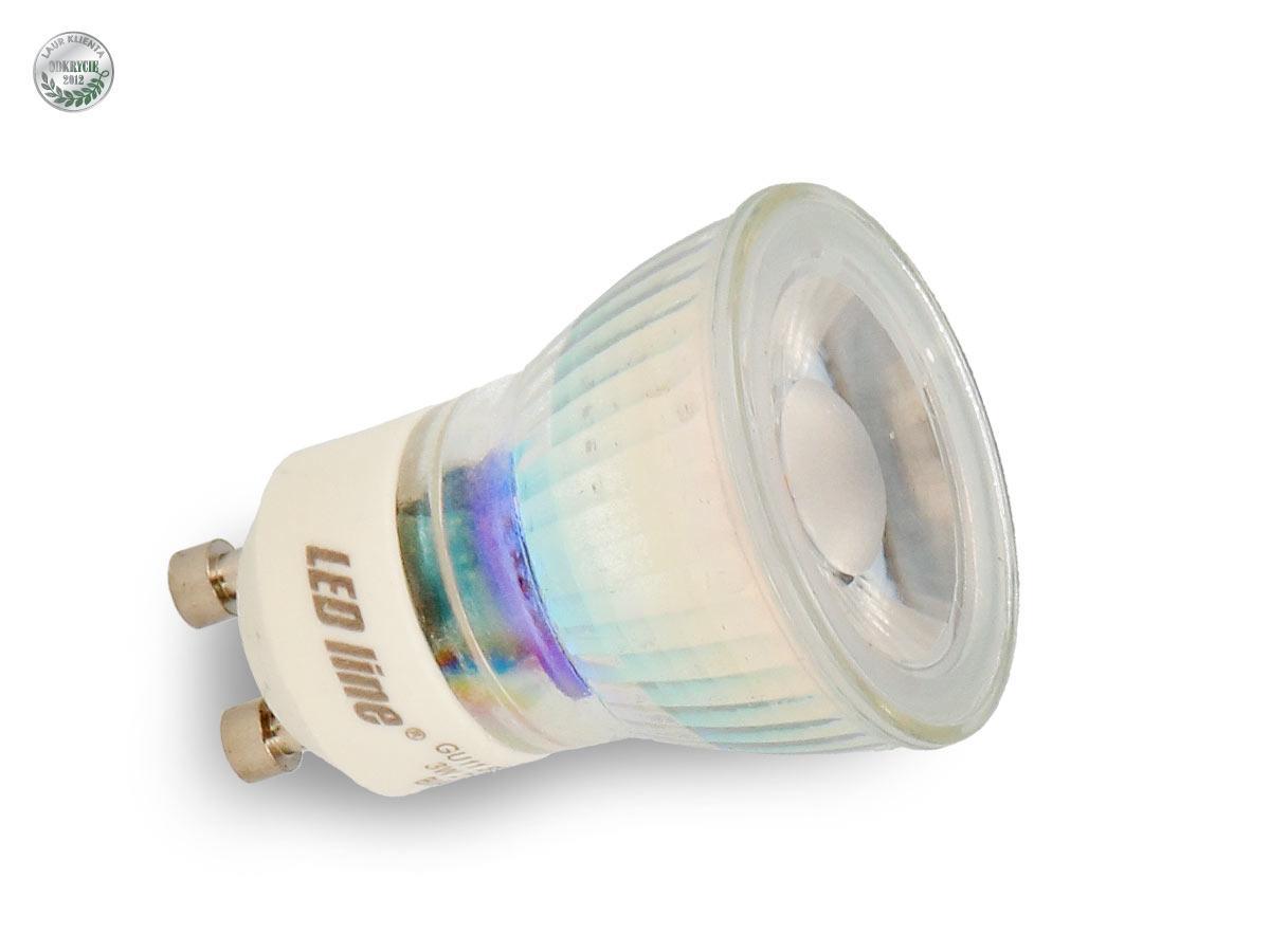 Ledline LED žárovka 3W SMD2835 GU10/MR11 210lm Studená