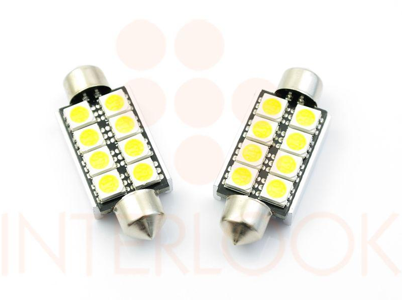 Interlook LED auto žárovka LED C5W 8 SMD 5050 CAN BUS 42mm