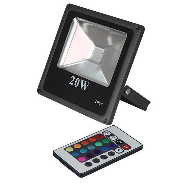 PremiumLED LED reflektor SLIM venkovní 20W RGB EPISTAR, černý