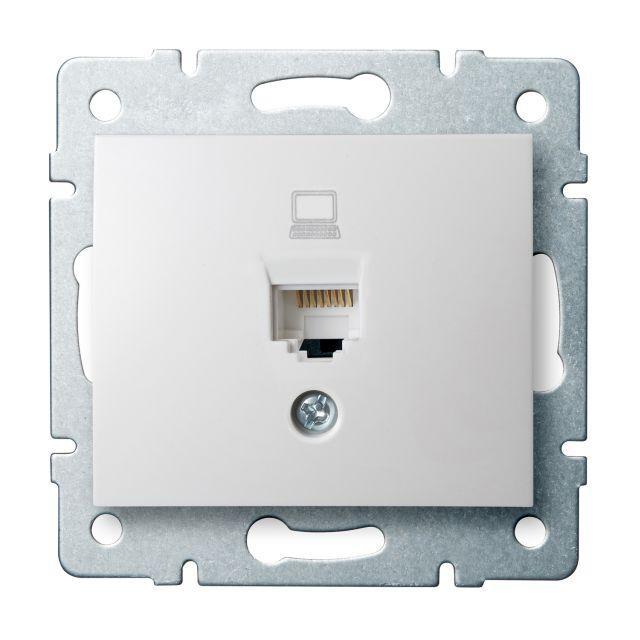 Kanlux 24754 DOMO Datová zásuvka (RJ45Cat 6 Jack) - bílá