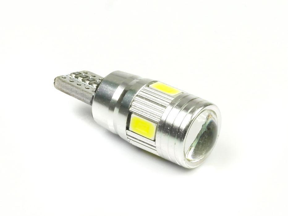 Interlook LED auto žárovka LED W5W T10 6 SMD 5630 SUPER CAN BUS S Čočkou