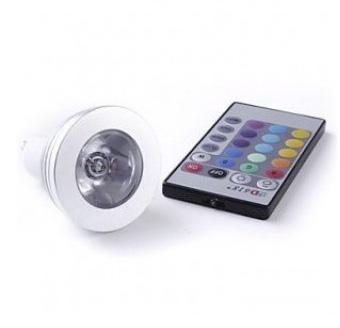 PremiumLED RGB LED žárovka 3W GU10 100lm s ovladačem
