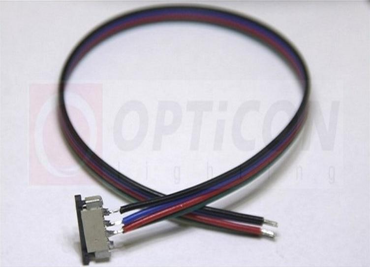 OPTICON Konektor zasouvací pro RGB LED pásky o šířce 10mm s vodičem