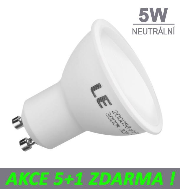 AKCE: 5+1 Ledspace LED žárovka 5W GU10 450lm Neutrální