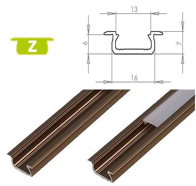 LEDLabs Hliníkový profil LUMINES Z zápustný 1m pro LED pásky, inox