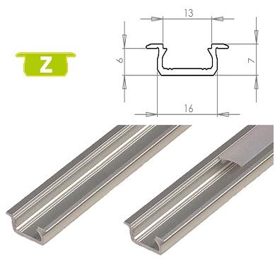 LEDLabs Hliníkový profil LUMINES Z zápustný 1m pro LED pásky, stříbrný