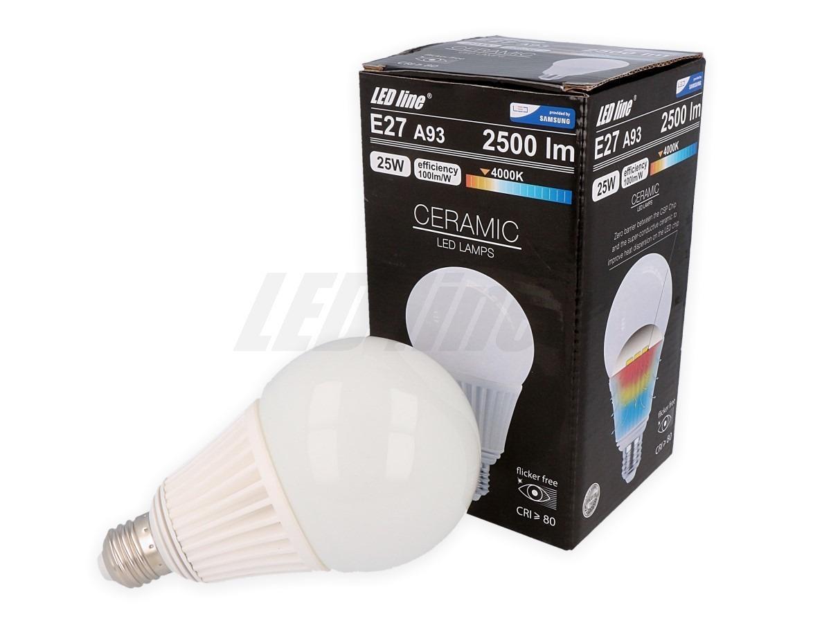 Ledin LED žárovka 25W CSP 2500lm E27 A93 CCD Neutrální