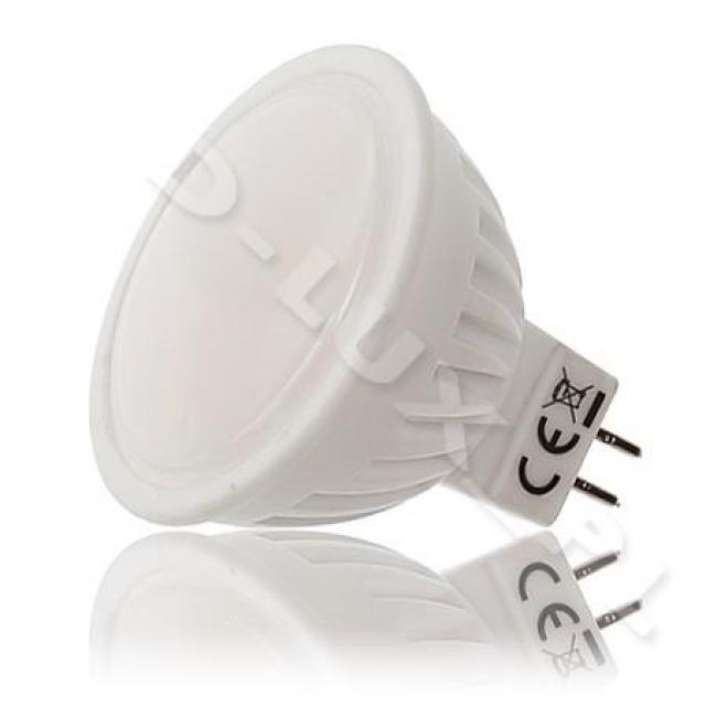 Ledlux LED žárovka 10W 12V 12xSMD GU5.3/MR16 790lm Teplá