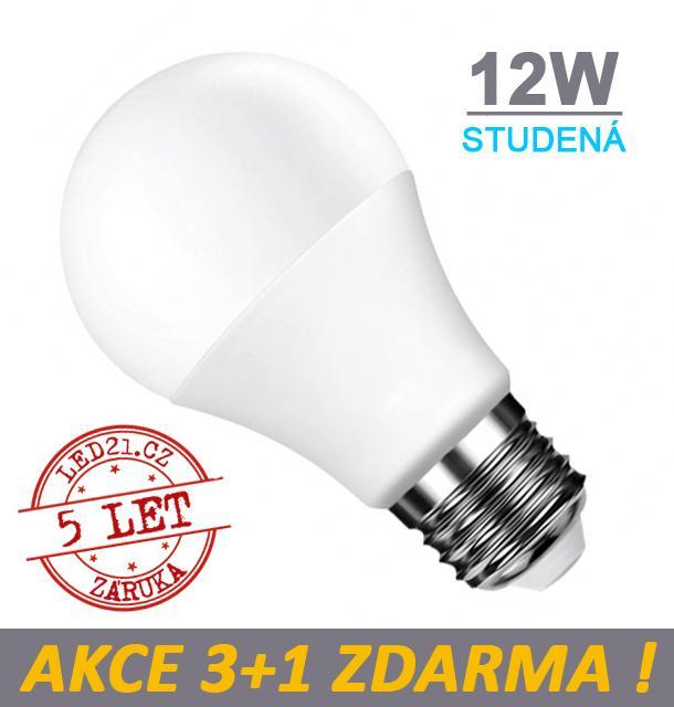 LED21 LED žárovka E27 12W 18xSMD2835 1080lm CCD Studená