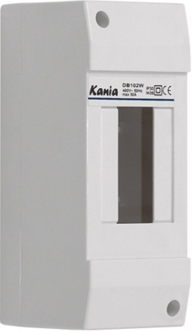 Kanlux 03850 DB102W 1X2P/SM - Plastový rozváděč