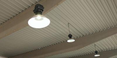 Dodávka LED osvětlení do skladové a výrobní haly, Kvasiny