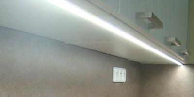 Soukromý byt - osvětlení kuchyňské linky, Brno