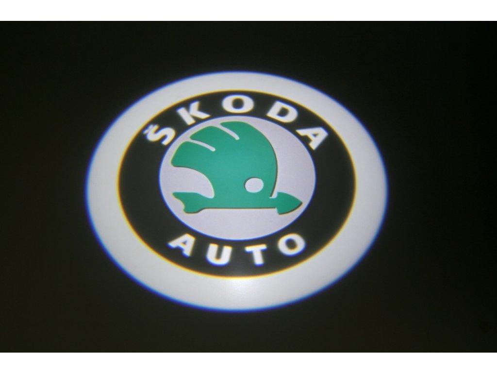 LED znak - podsvícení dvěří – Škoda