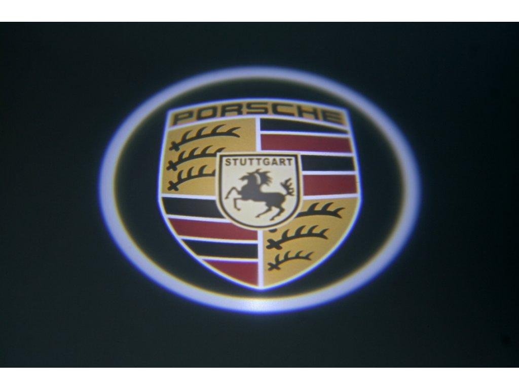 LED znak - podsvícení dvěří – Porsche