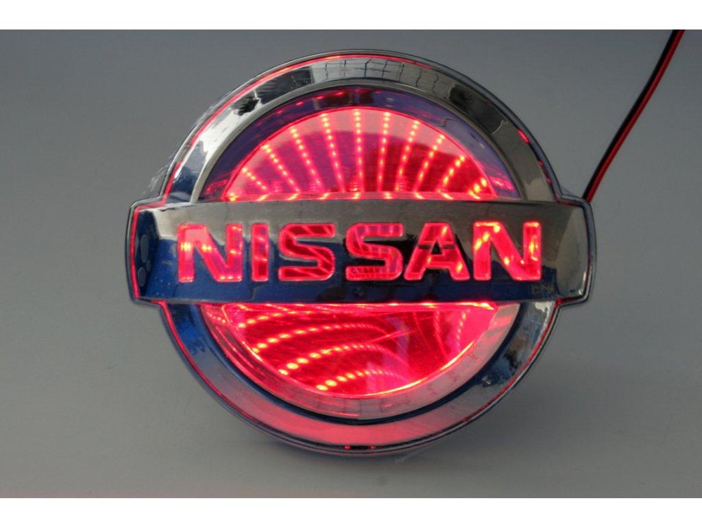 LED znak - efekt 3D - Nissan (červená)