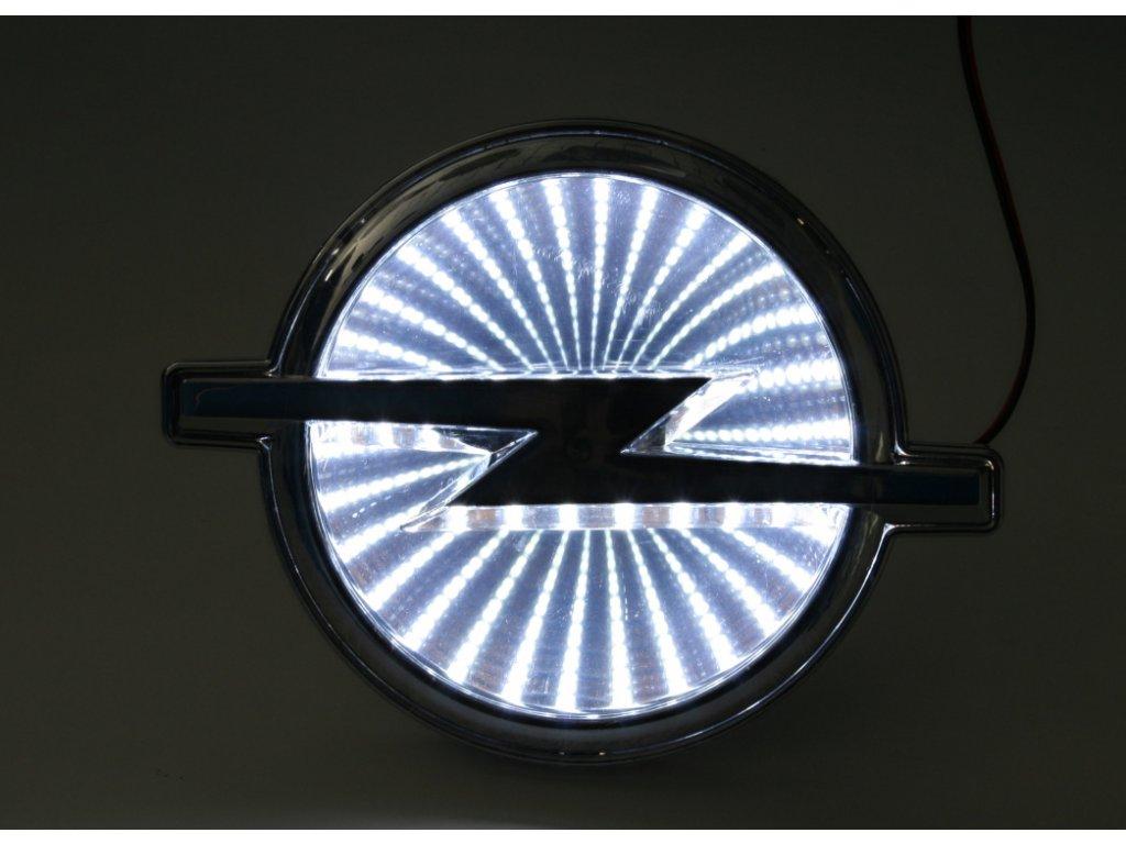 LED znak - efekt 3D - Opel (bílá)