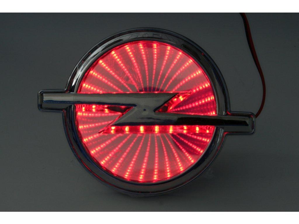LED znak - efekt 3D - Opel (červená)