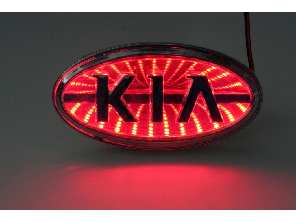 LED znak - efekt 3D - Kia (červená)