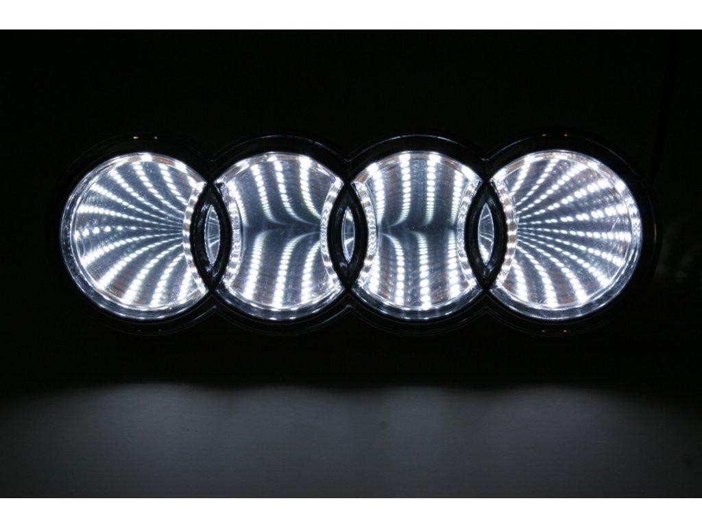 LED znak - efekt 3D - Audi Q5, A3 (červená)