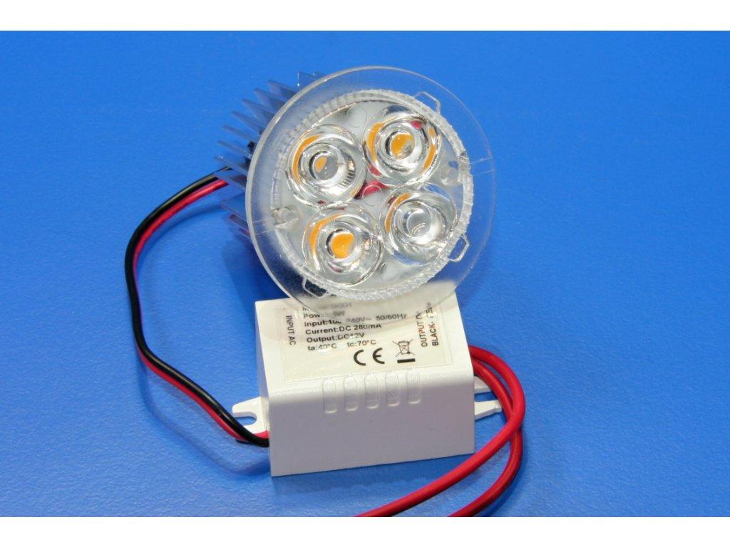 LED bodové světlo zápustné 5W - teplá bílá, 3000K