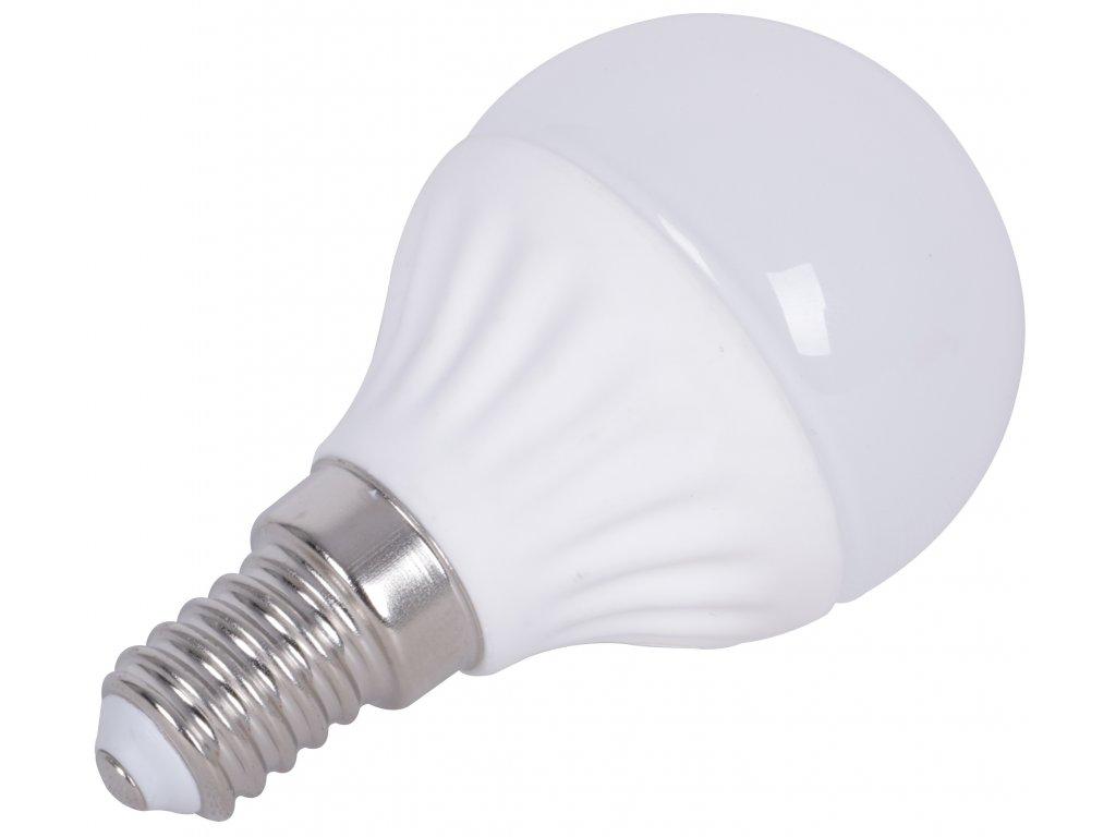 LED žárovka E14, 5W, 400lm, studená bílá (6000-6500K)