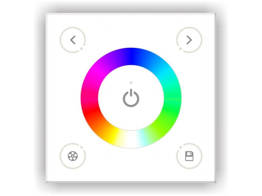 Nástěnný ovladač pro RGB LED pásky, 4A/CH, 12V/24V - D3