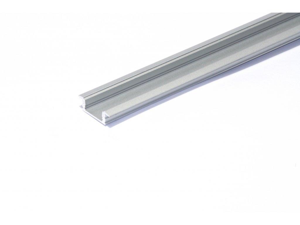 Hliníkový profil pro LED pásky vestavný NE-FLAT2-FR, délka 2m/ks, eloxovaný hliník