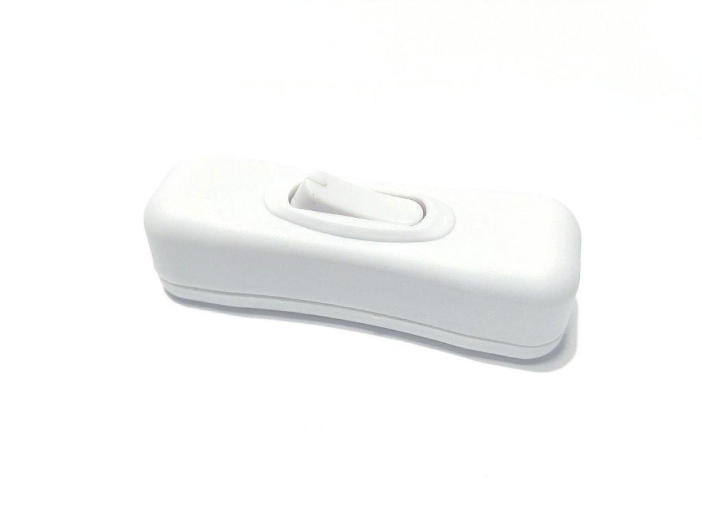 Vypínač mezišňůrový 250V/2A bílý