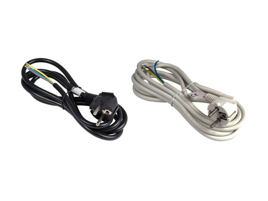 flexo kabel s uhlovou vidlici cerny bily
