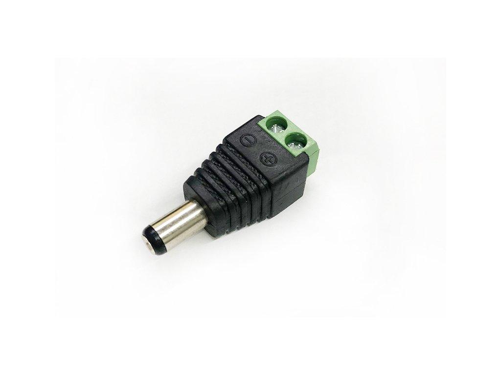 dc konektor 55x21mm se svorkovnici samec (1)