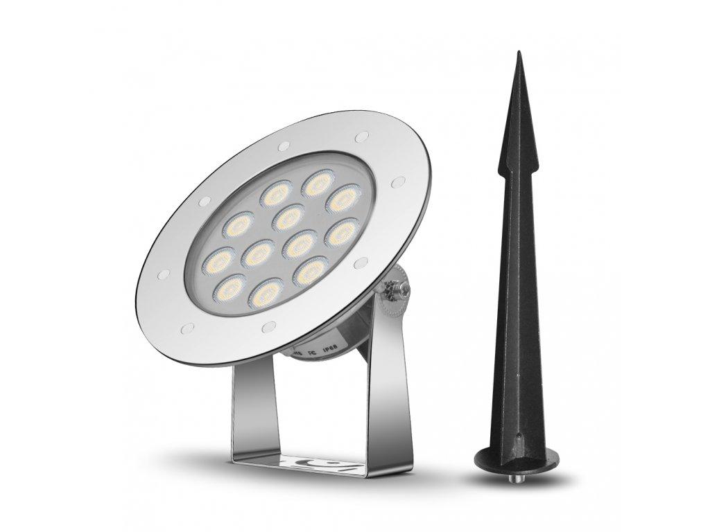 Zahradní LED světlo se zapichovacím trnem 9W 24V
