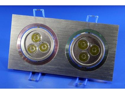LED bodové svítidlo 6W (2x3) - studená bílá, 6000K