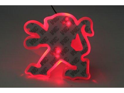 LED znak - podsvícení znaku – Peugeot 408 (červená)