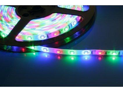 LED pásek samolepící 4,8W/m, 12V, IP54 - RGB
