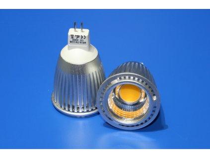 LED bodovka MR16, 7W, 12V, teplá bílá