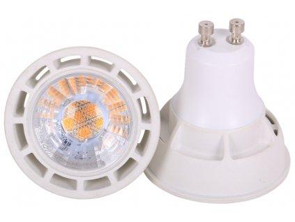 LED žárovka GU10, 5W, 400lm, 45°, studená bílá (6500K)