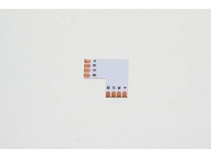 rohova spojka pro led pasek RGB pajeci 10mm