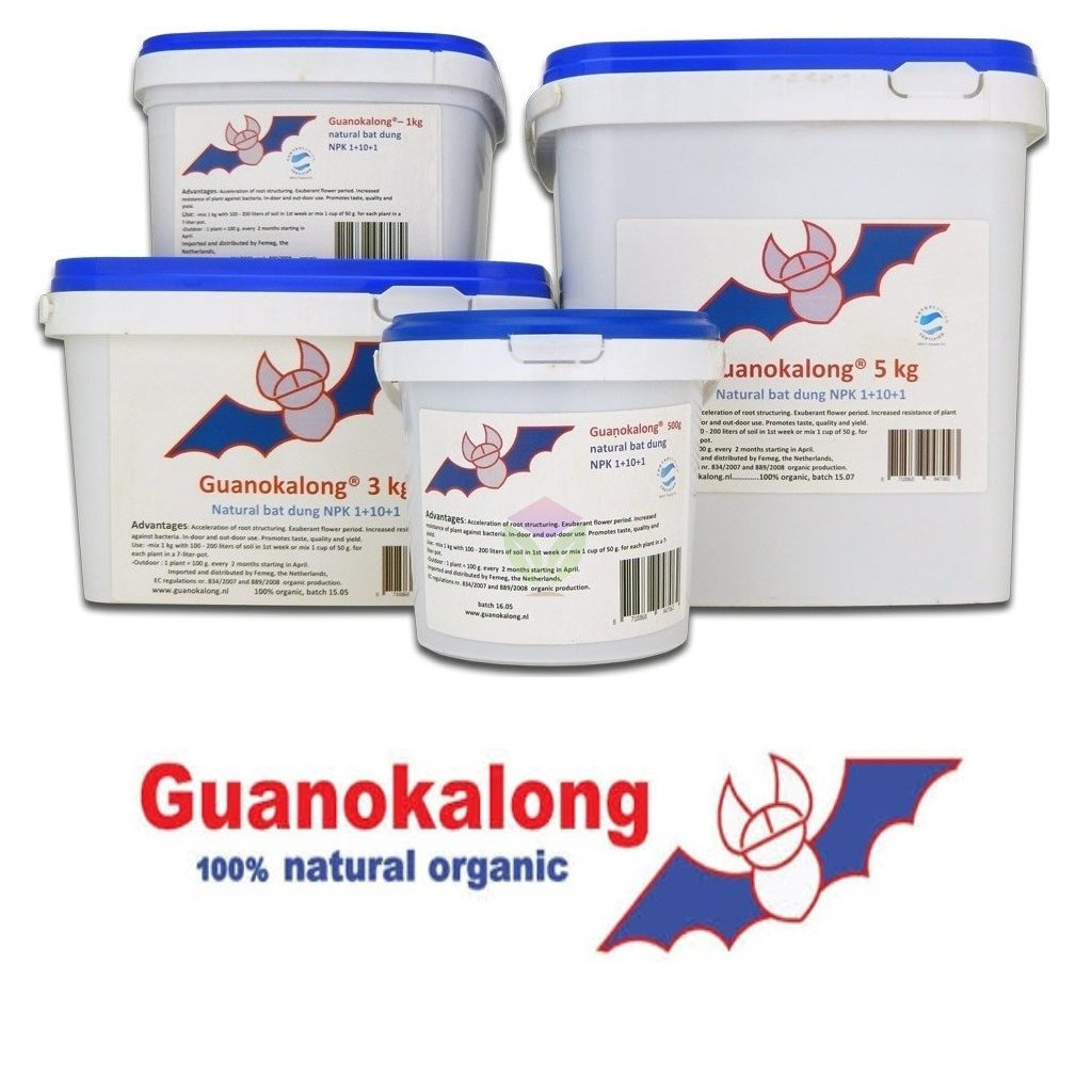 Guanokalong pelety (Objem hnojiva 5 Kg)