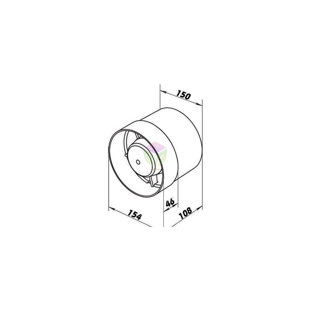 37289 axialni ventilator vko 150 privod a odvod vzduchu