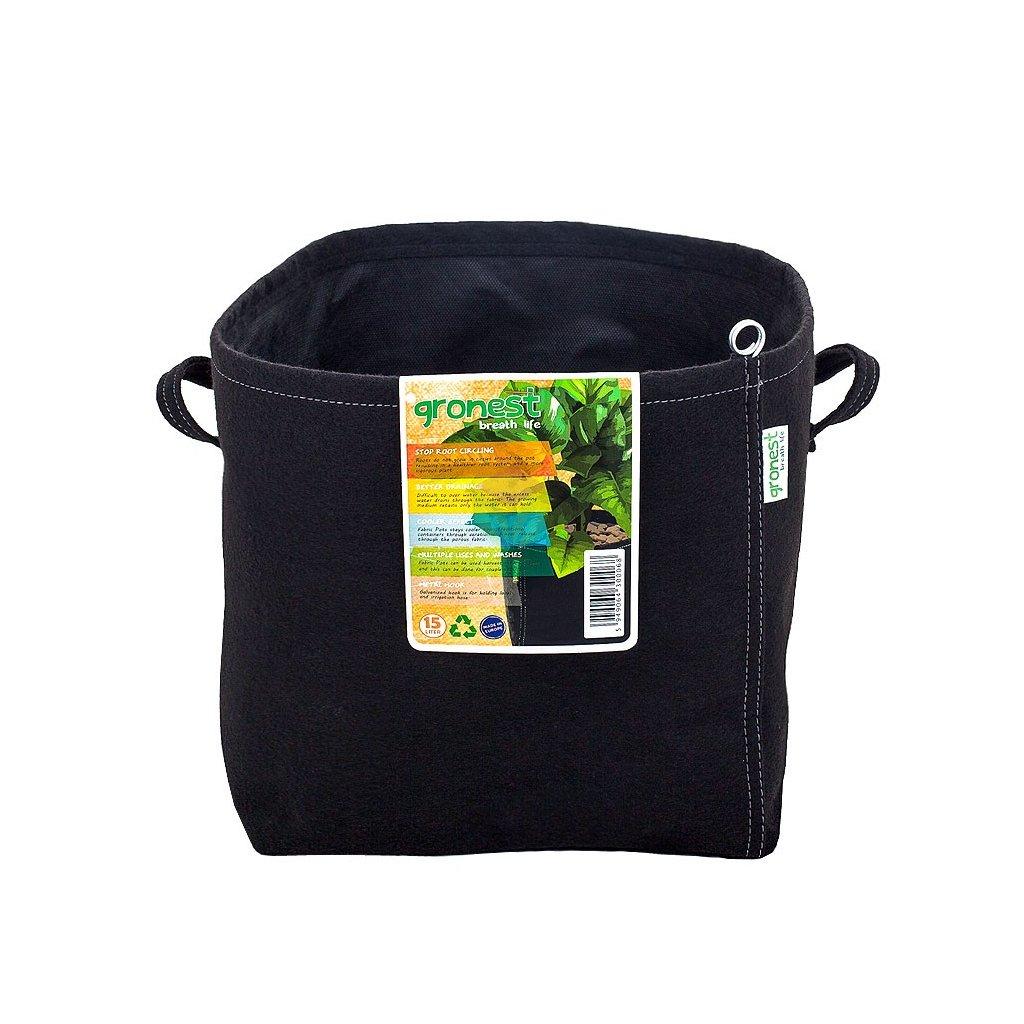 40574 gronest textilni kvetinac 15l aqua breathe
