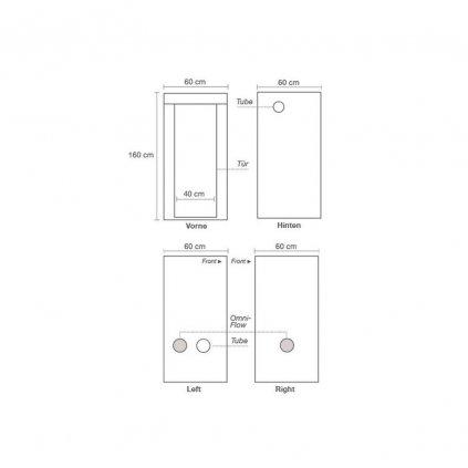 39968 homebox ambient q60 60x60x160 cm