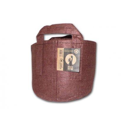 40697 root pouch textilni kvetinac boxer brown 30l