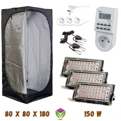 growbox s osvetlenim 150W