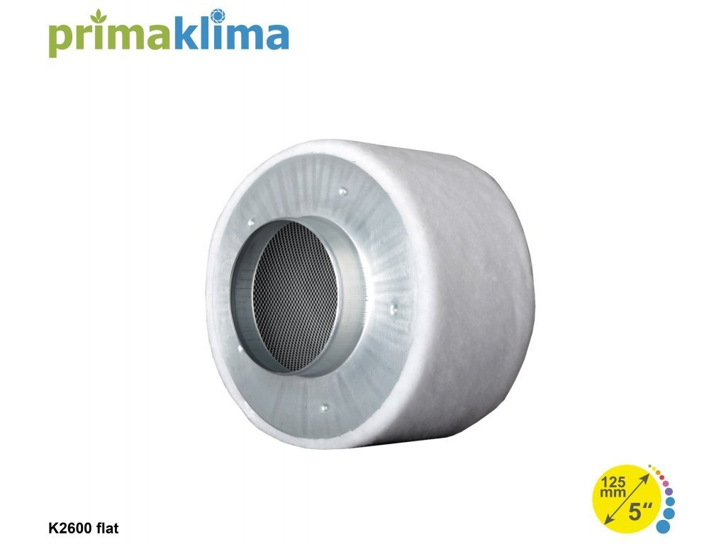 36359 prima klima eco filter k2600 flat 125mm 250 m3 h