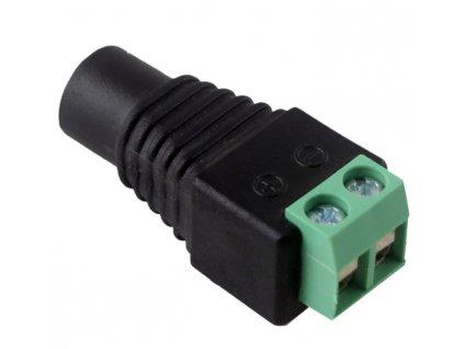 DC konektor sa svorkovnicu samice