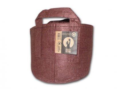 40700 root pouch textilni kvetinac boxer brown 56l