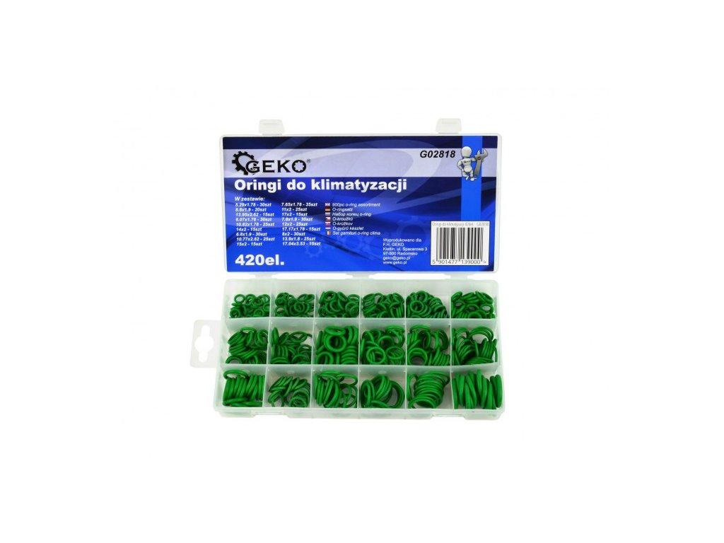 Sada těsnících gumiček pro klimatizace 420ks, Geko G02818