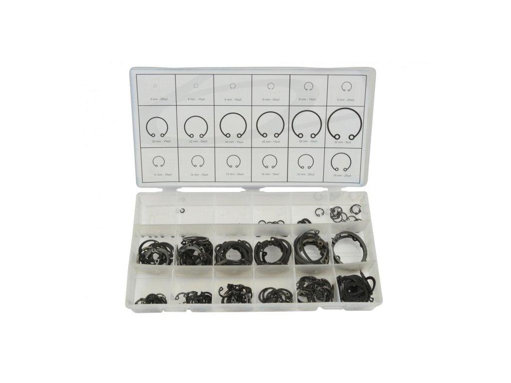 Sada vnitřních segerových kroužků 300ks 3 – 32mm, Geko G02803