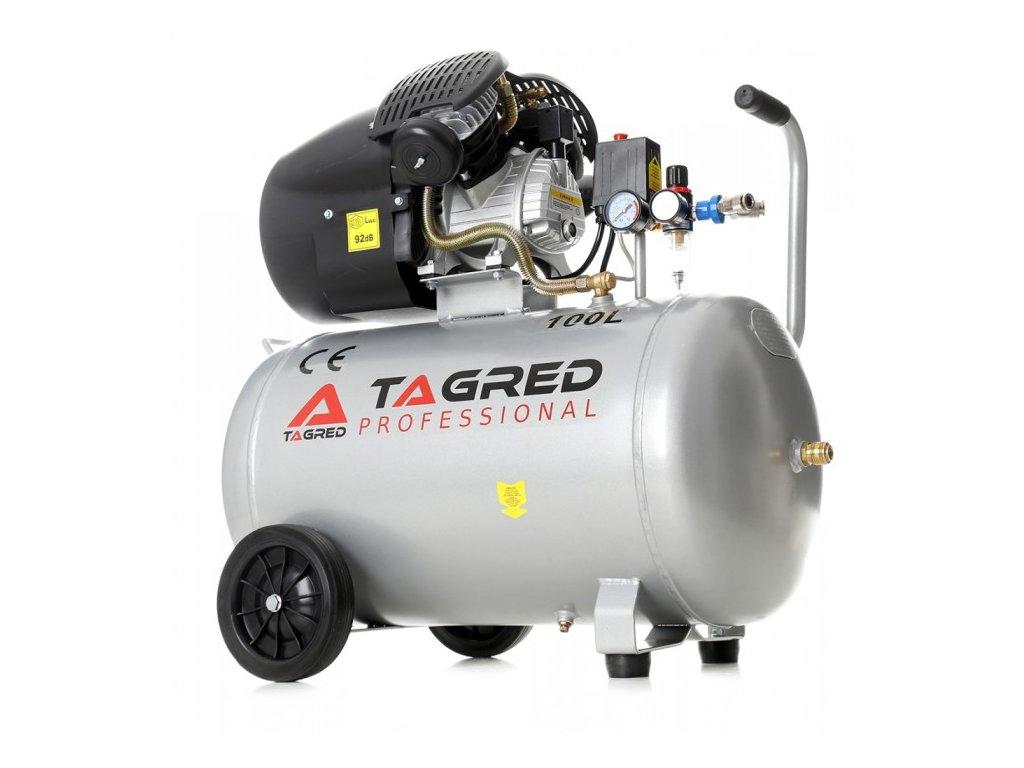 Olejový kompresor dvoupístový 100l, 3kW, Tagred TA361