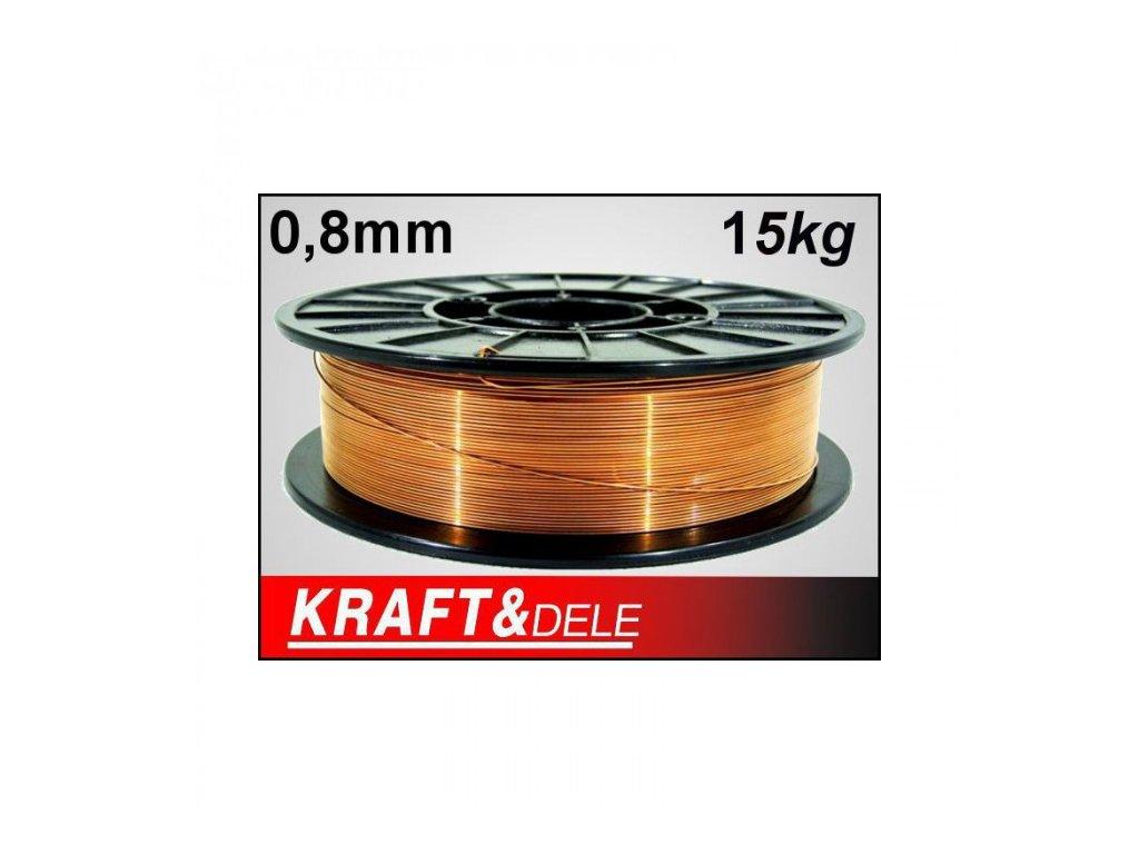 Svařovací drát 0,8mm 15kg, Kraft&Dele KD1150